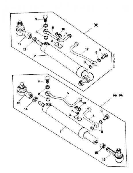 case ih ihc lenkzylinder fr zf apl1351 allradachse 3230184r91 3230674r1  3230100r91 2014 jeep cherokee wiring harness